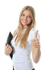 portrait photography contract portrait of a happy young business woman