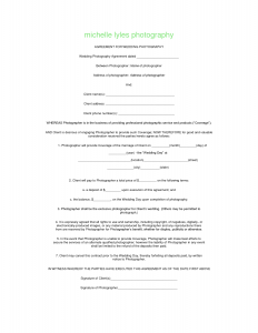 portrait photography contract photography contract template uokbrs