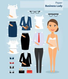 postcard template photoshop woman paper doll template