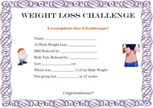 poster template word weight loss challenge winner certificate template