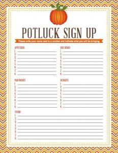 potluck sign up sheet template potluck dinner sign up sheet template