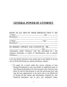 power of attorney letter power of attorney
