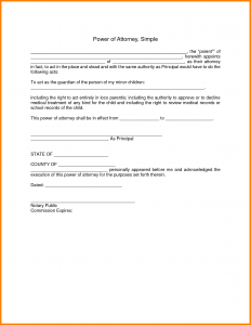 power of attorney letter simple power of attorney letter template