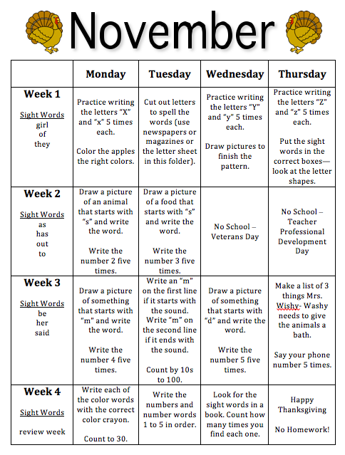 pre k lesson plan template