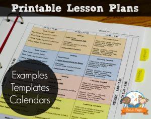 pre kindergarten lesson plan template electronic lesson plan book