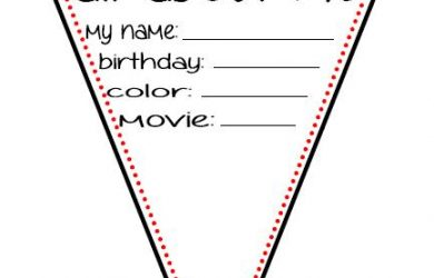prek lesson plan template all about me banner
