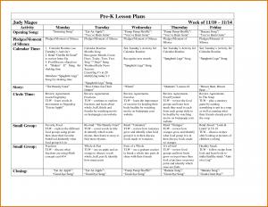 prek lesson plan template pre k lesson plan template