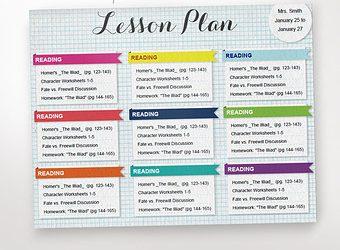 prek lesson plan templates il x y