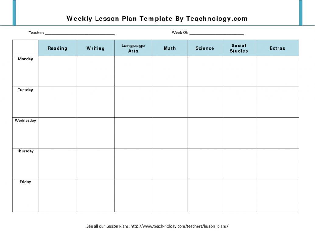 Prek Lesson Plan Templates | Template Business