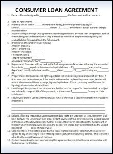 prenup agreement examples personal loan agreement