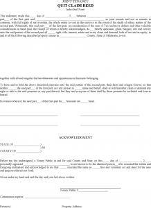 prenuptial agreement example oklahoma quitclaim deed form