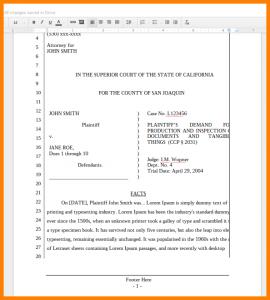 prenuptial agreement example pleading paper california superior court california google docs pleading