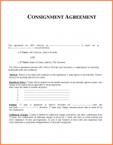 prenuptial agreement template consignment agreement template consignment agreement template