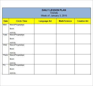 preschool lesson plan template preschool lesson plan themes