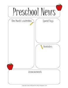 preschool newsletter template newsletter template