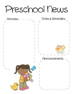 preschool newsletter template spring preschool