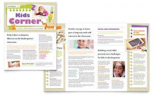 preschool newsletter templates etd s
