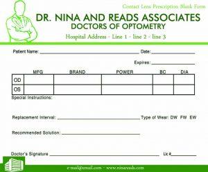 prescription pad template contact lens prescription blank form blank prescription template poe