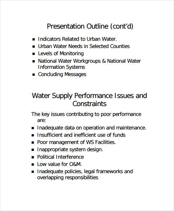 presentation outline template