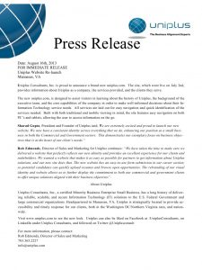 press release format template preview website press release uniplus
