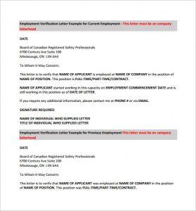 previous employment verification form current employment verification letter pdf free download