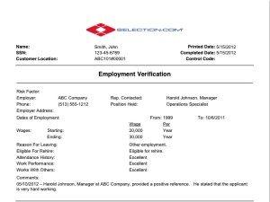 previous employment verification form employment verification sample background check x