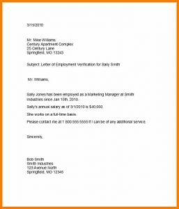 previous employment verification form proof of income letter for apartment proof of employment letter