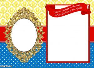 princess invitation template free printable mirror snow white princess birthday invitation template