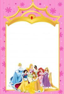 princess invitation template printable disney princesses invitations