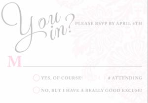 princess invitation template rsvp