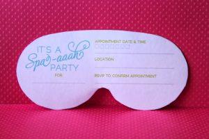 princess invitation template spa mask invitation printable