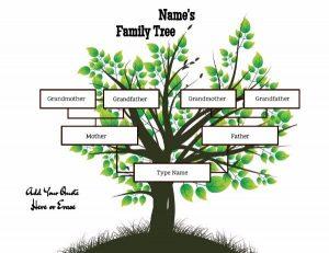 print newsletter templates family tree x