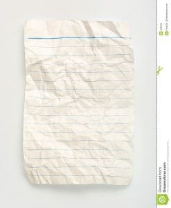 print notebook paper crumpled line paper