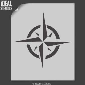 print out stencils nautical star symbol stencil star motif size xx large xcm [] p