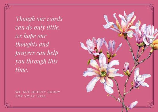 print out sympathy card