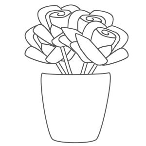 print out sympathy card roses coloring pages