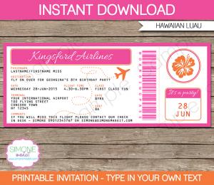 printable candy bar wrappers printable hawaiian luau boarding pass invitation