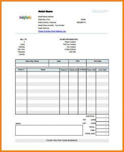 printable cash receipt bangalore hotel bill format in pdf printable blank hotel receipt template pdf format