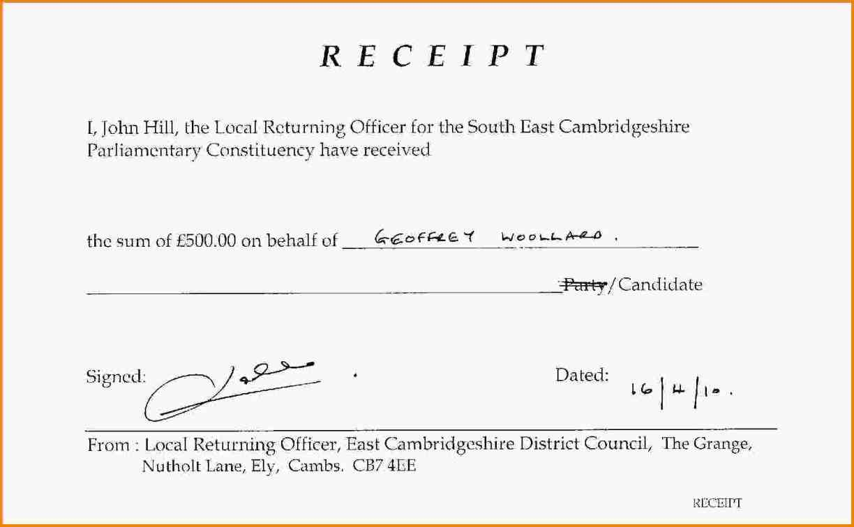 printable cash receipt