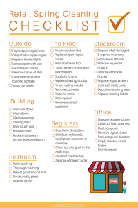printable daily to do list retail spring cleaning checklist