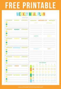 printable daily to do list weeklymealplan