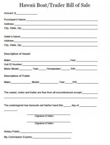 printable direct deposit form boat bill of sale form template