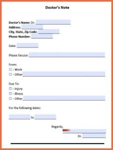 printable doctor note free fill in the blank doctors note doctors note for work template resize