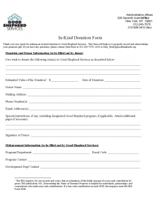 printable donation form template in kind donation form new york d
