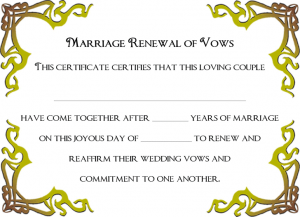 printable employee warning form renewal of marriage vows certificate