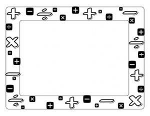 printable engineering paper operation signs landscape blank teacher clipart bordersteacher
