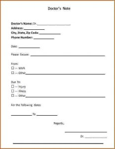 printable fake doctors notes free doctor notes templates fake doctors note template