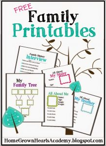 printable family tree cover