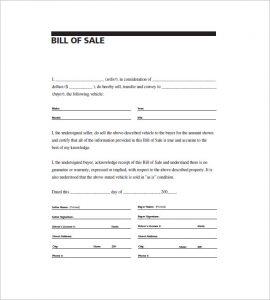 printable general bill of sale printable paper template bill of sale general purpose
