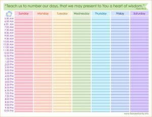 printable hourly schedule free printable schedule weekly schedule
